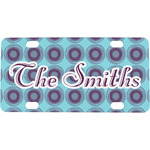 Concentric Circles Mini / Bicycle License Plate (Personalized)