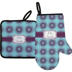 Concentric Circles Oven Mitt & Pot Holder (Personalized)