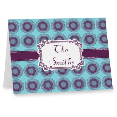 Concentric Circles Note cards (Personalized)