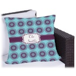 Concentric Circles Outdoor Pillow (Personalized)