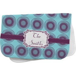 Concentric Circles Burp Cloth (Personalized)