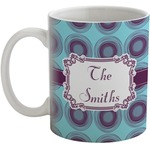 Concentric Circles Coffee Mug (Personalized)