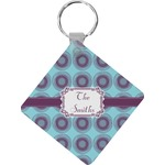 Concentric Circles Diamond Key Chain (Personalized)