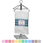 Concentric Circles Finger Tip Towel (Personalized)