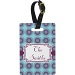 Concentric Circles Rectangular Luggage Tag (Personalized)