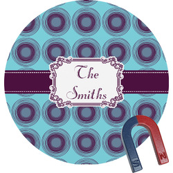 Concentric Circles Round Magnet (Personalized)
