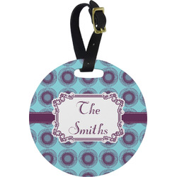 Concentric Circles Round Luggage Tag (Personalized)