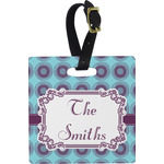 Concentric Circles Square Luggage Tag (Personalized)