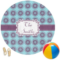 Concentric Circles Round Beach Towel (Personalized)