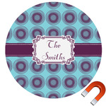 Concentric Circles Round Car Magnet (Personalized)