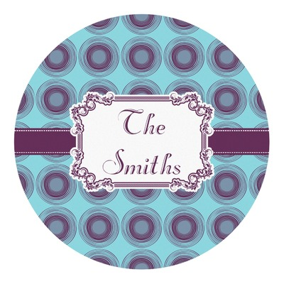 Concentric Circles Round Decal (Personalized)
