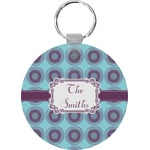 Concentric Circles Round Keychain (Personalized)