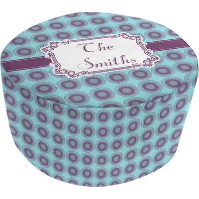 Concentric Circles Round Pouf Ottoman (Personalized)