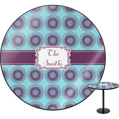 Concentric Circles Round Table (Personalized)