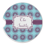Concentric Circles Sandstone Car Coasters (Personalized)