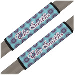 Concentric Circles Seat Belt Covers (Set of 2) (Personalized)