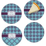 Concentric Circles Set of Appetizer / Dessert Plates (Personalized)