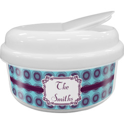 Concentric Circles Snack Container (Personalized)