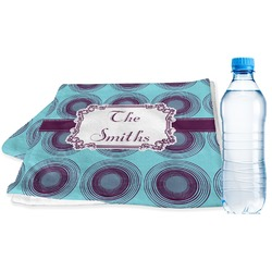 Concentric Circles Sports Towel (Personalized)