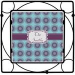 Concentric Circles Square Trivet (Personalized)