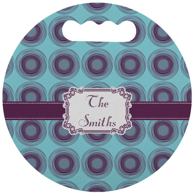 Concentric Circles Stadium Cushion (Round) (Personalized)