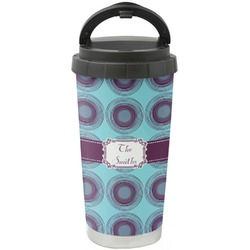 Concentric Circles Stainless Steel Travel Mug (Personalized)