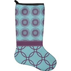 Concentric Circles Christmas Stocking - Neoprene (Personalized)