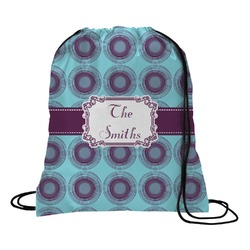 Concentric Circles Drawstring Backpack (Personalized)