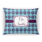 Concentric Circles Rectangular Throw Pillow Case (Personalized)