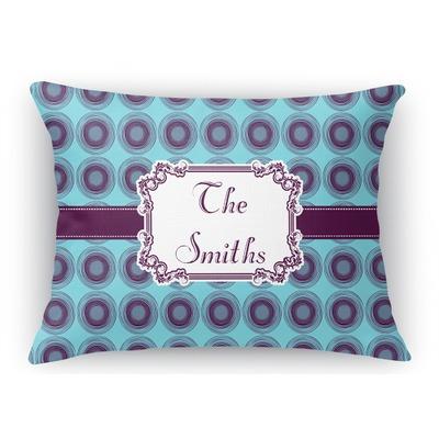 Concentric Circles Rectangular Throw Pillow Case (Personalized)