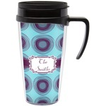 Concentric Circles Travel Mug with Handle (Personalized)