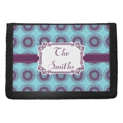 Concentric Circles Trifold Wallet (Personalized)