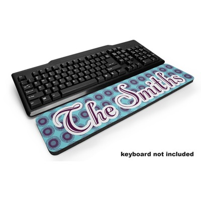 Concentric Circles Keyboard Wrist Rest (Personalized)