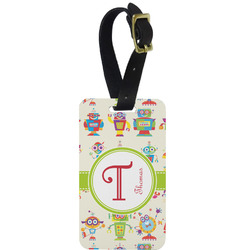 Rocking Robots Metal Luggage Tag w/ Name and Initial