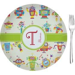 "Rocking Robots 8"" Glass Appetizer / Dessert Plates - Single or Set (Personalized)"