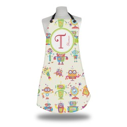 Rocking Robots Apron w/ Name and Initial