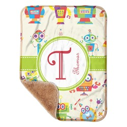 """Rocking Robots Sherpa Baby Blanket 30"""" x 40"""" (Personalized)"""