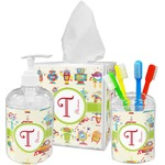 Rocking Robots Acrylic Bathroom Accessories Set w/ Name and Initial
