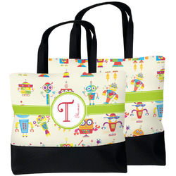 Rocking Robots Beach Tote Bag (Personalized)