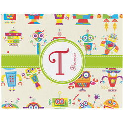 Rocking Robots Woven Fabric Placemat - Twill w/ Name and Initial