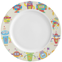 Rocking Robots Ceramic Dinner Plates (Set of 4) (Personalized)