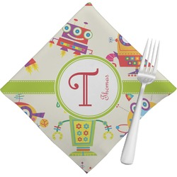 Rocking Robots Cloth Napkins (Set of 4) (Personalized)
