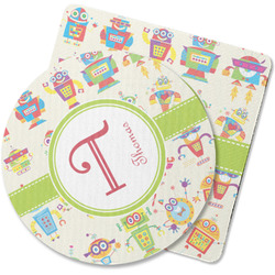 Rocking Robots Rubber Backed Coaster (Personalized)
