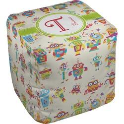 Rocking Robots Cube Pouf Ottoman (Personalized)