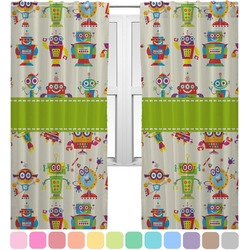Rocking Robots Curtains (2 Panels Per Set) (Personalized)