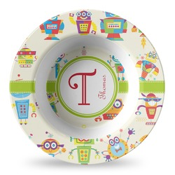 Rocking Robots Plastic Bowl - Microwave Safe - Composite Polymer (Personalized)
