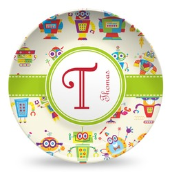 Rocking Robots Microwave Safe Plastic Plate - Composite Polymer (Personalized)