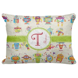"Rocking Robots Decorative Baby Pillowcase - 16""x12"" (Personalized)"