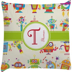 Rocking Robots Decorative Pillow Case (Personalized)