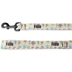 Rocking Robots Deluxe Dog Leash - 4 ft (Personalized)